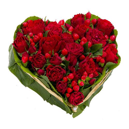 Coeur de roses rouges livraison coeur ardent florajet - Images avec des coeurs ...