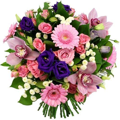 Bouquet rond salsa livraison express florajet for Bouquet livraison