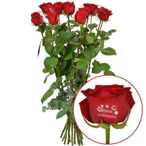 Livraison de rose marqu e 11 1 rose marquee anniv for Rose livraison
