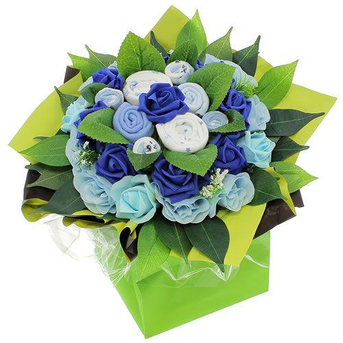 livraison de fleurs bouquet naissance bleu livraison france express. Black Bedroom Furniture Sets. Home Design Ideas